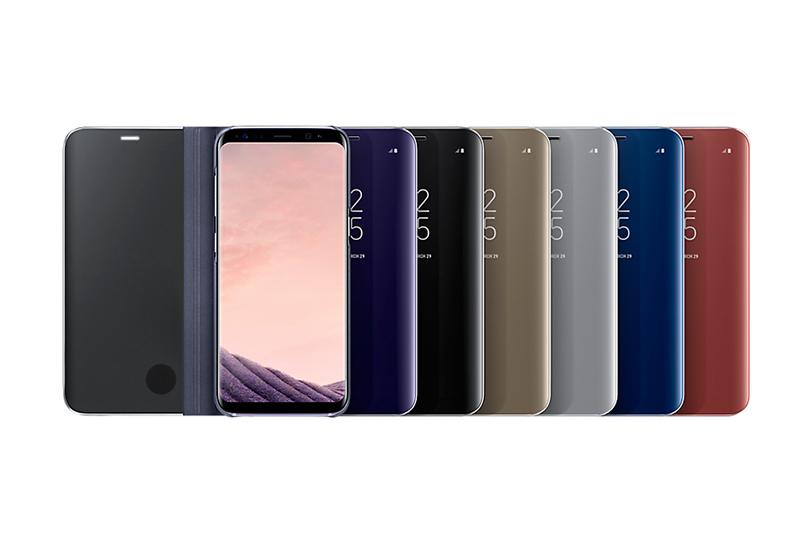 Bao da Clear view Galaxy S Plus