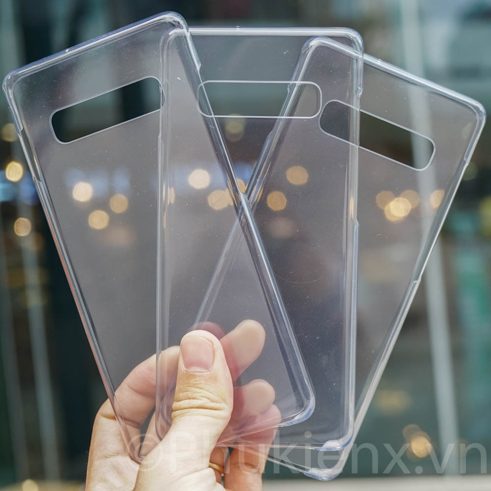 Ốp theo máy clear cover Galaxy s10 Plus