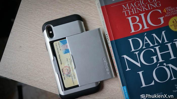 Ốp lưng cài thẻ iPhone X