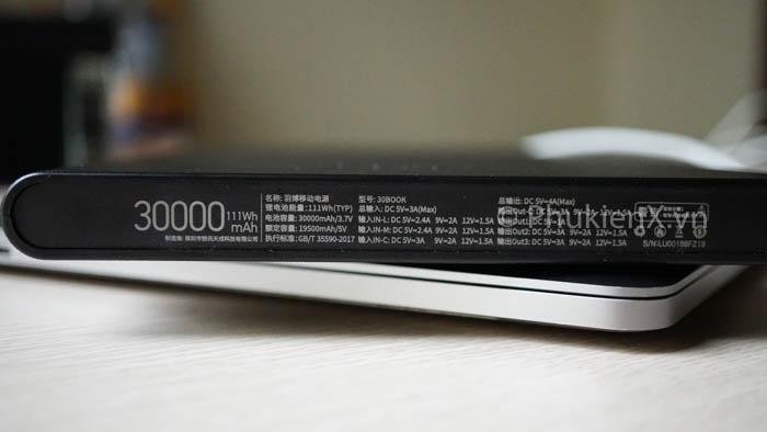 Sạc dự phòng Yoobao 30000mAh, sạc dự phòng Macbook