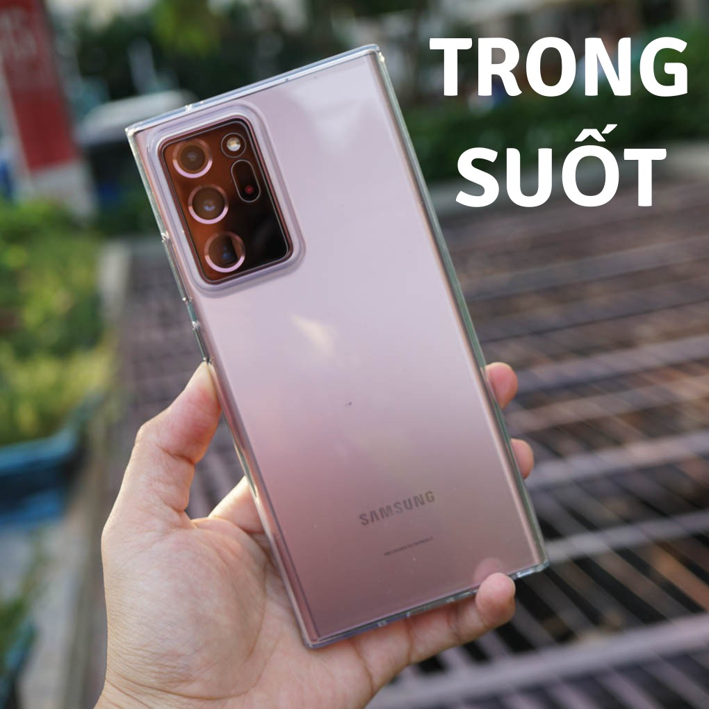 Ốp silicone trong suốt Galaxy Note 20 Ultra